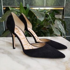 Sam Edelman Delilah Black Suede Heels, Sz 9.5